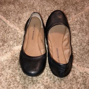 Lucky Brand Black Leather Emmie Ballet Flats| 6